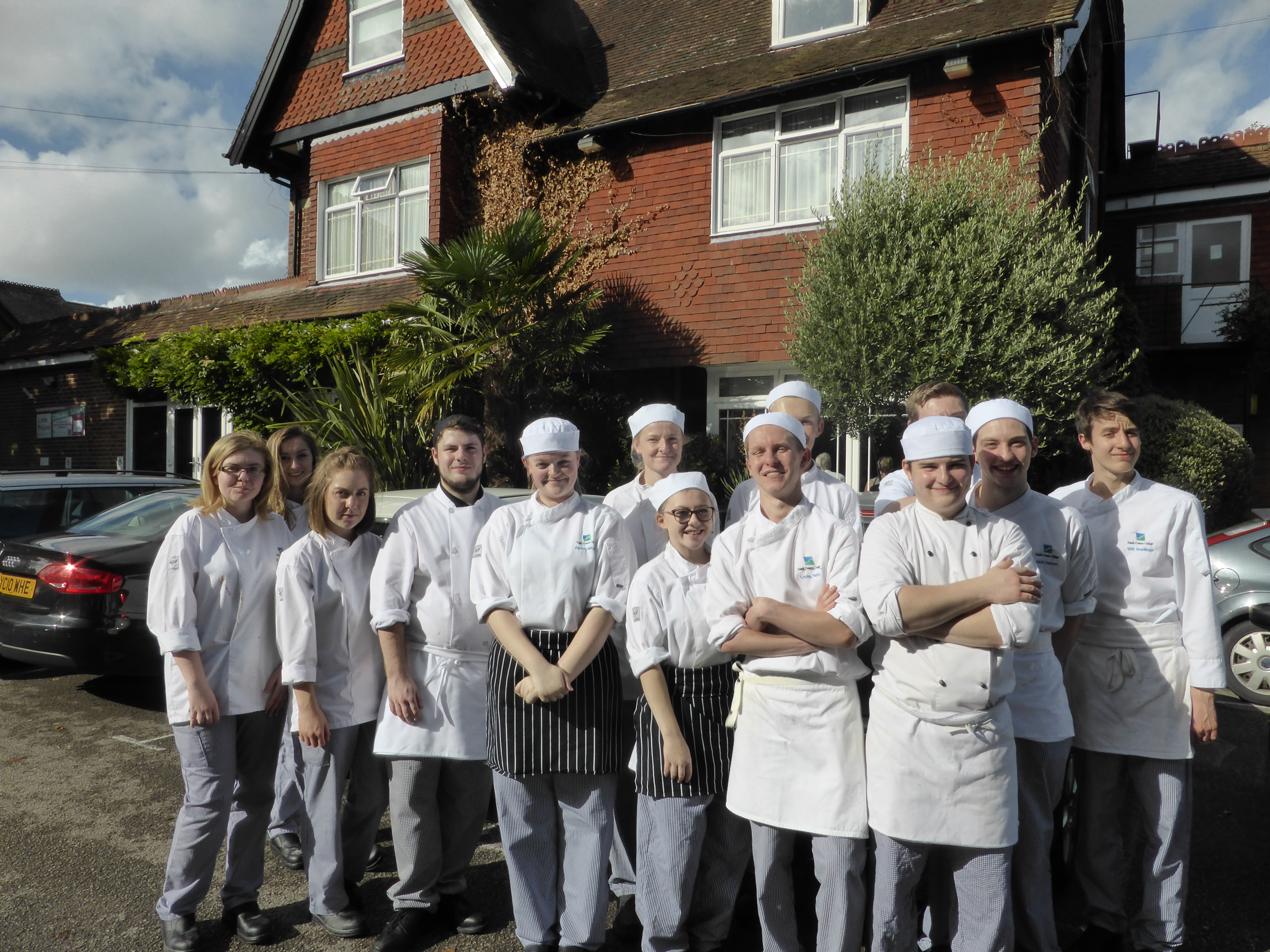 South Downs College Catering Course Students