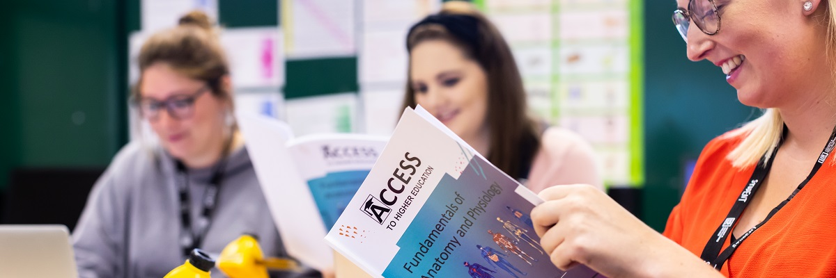 Access students with work booklets