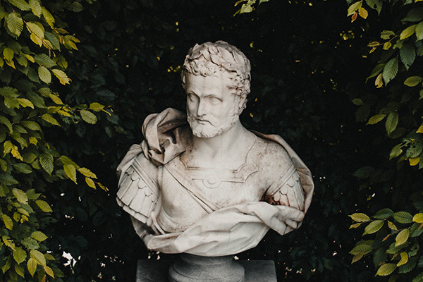 a statue of a philosopher