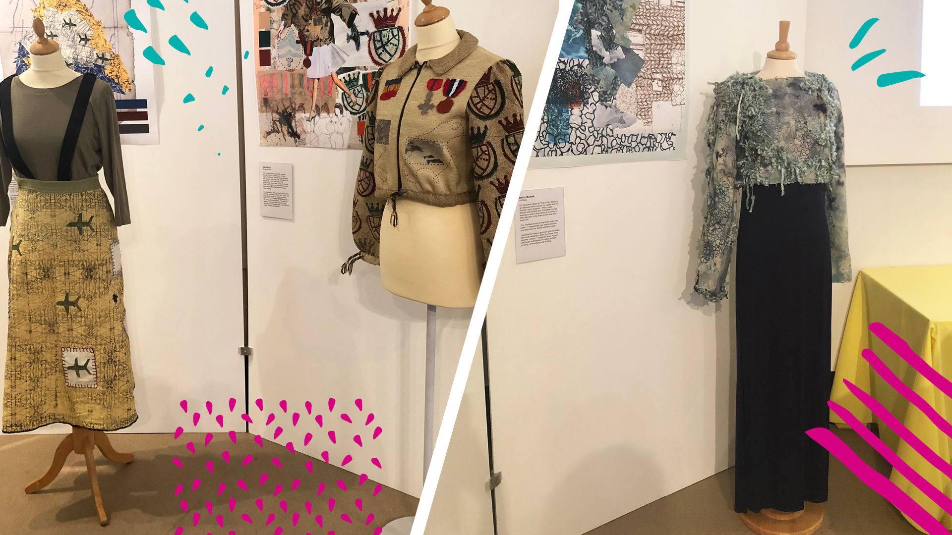 D Exhibition : Fashion students create garments for d day exhibition havant