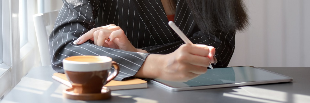 close up of someone writing notes