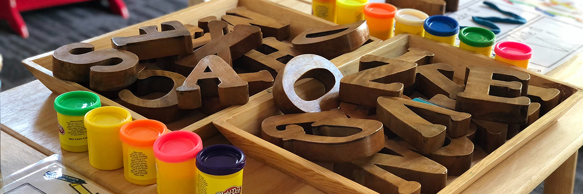 wooden letters of the alphabet