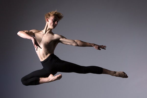 a dancer mid-air