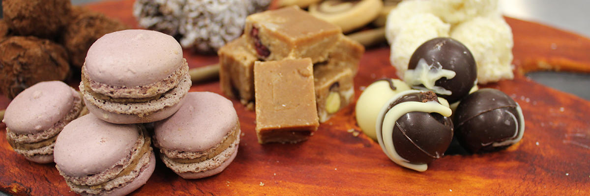 close up of confectionery