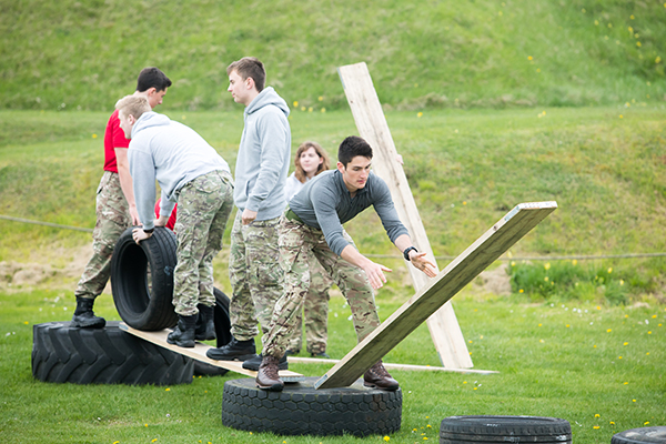 public services student taking part in an activity
