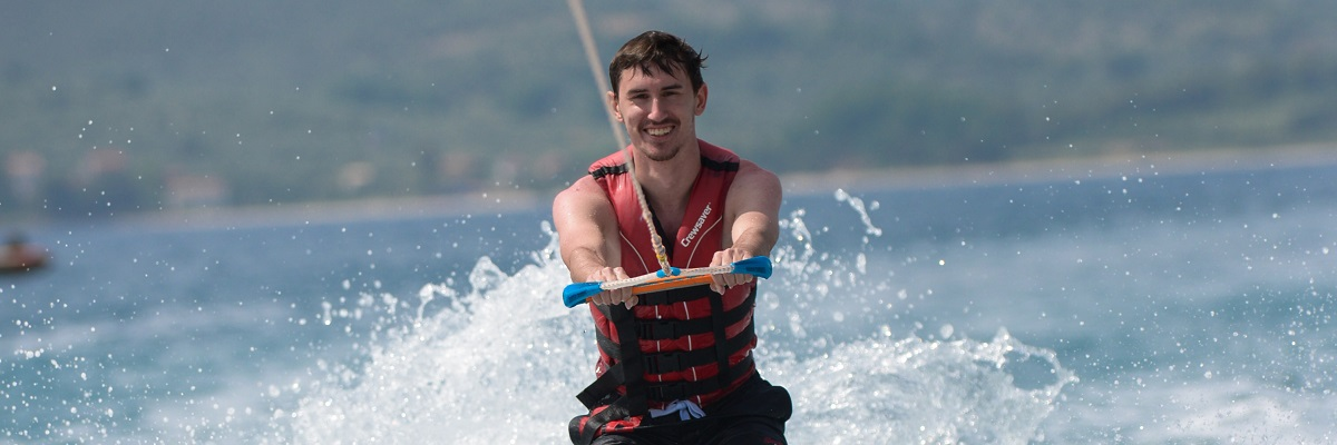 student water skiing