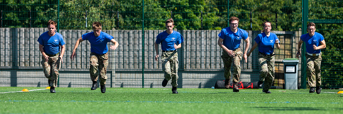 public services students running