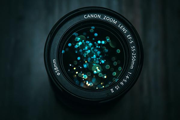 close up of a camera lense