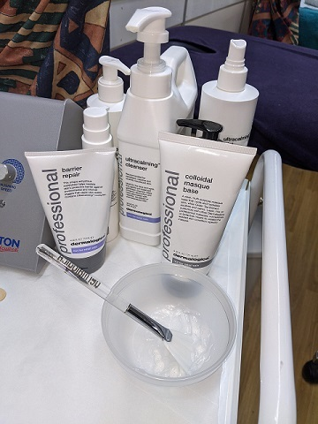 Dermalogica products used by HSDC beauty students