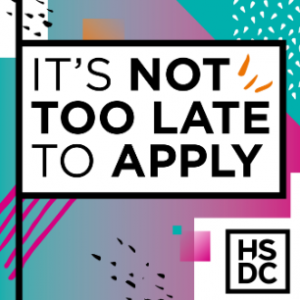 it's not to late to apply to hsdc