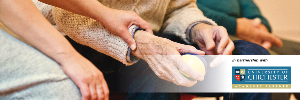 someone holding an elderly persons hands