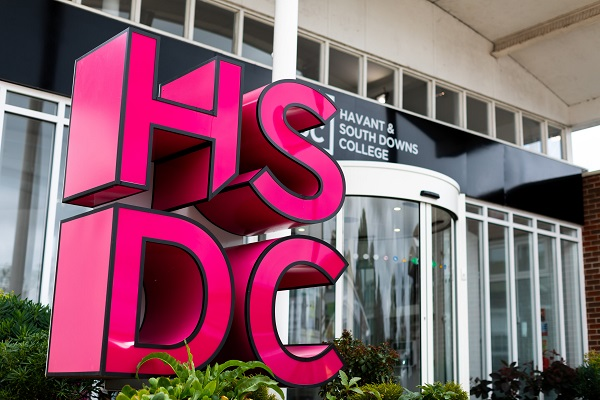 the front of hsdc havant reception outside