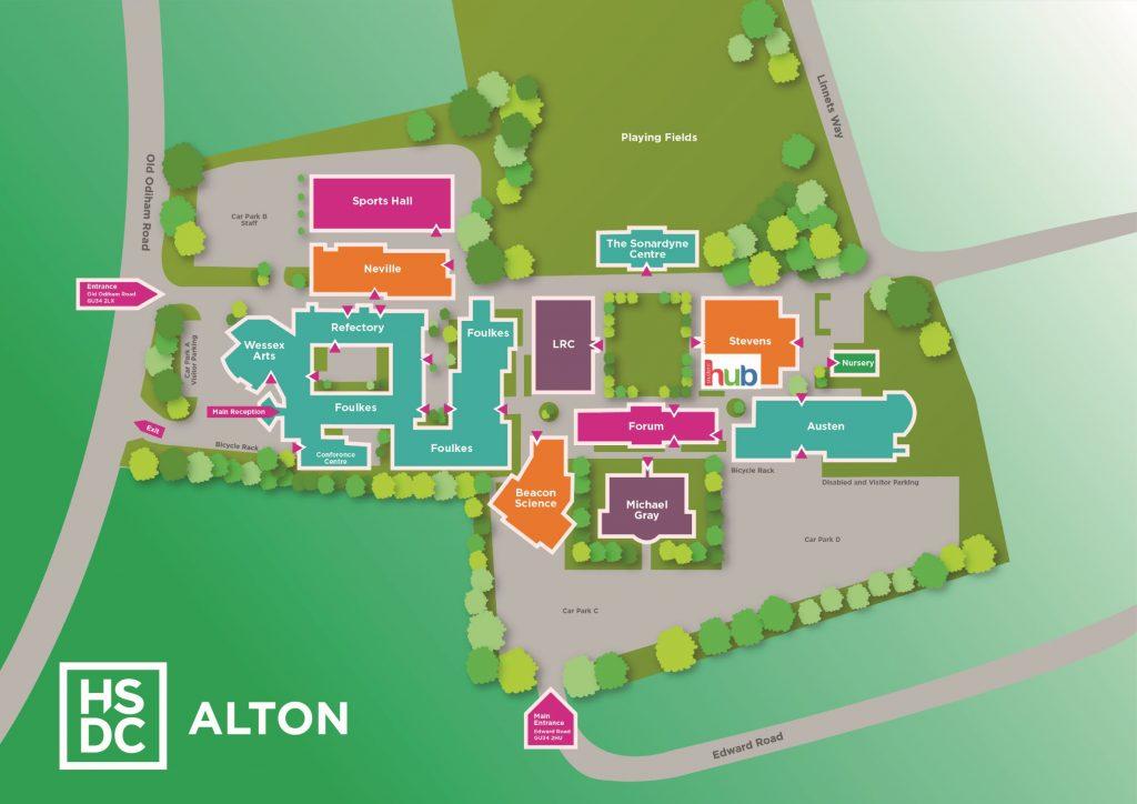 map of Alton Campus