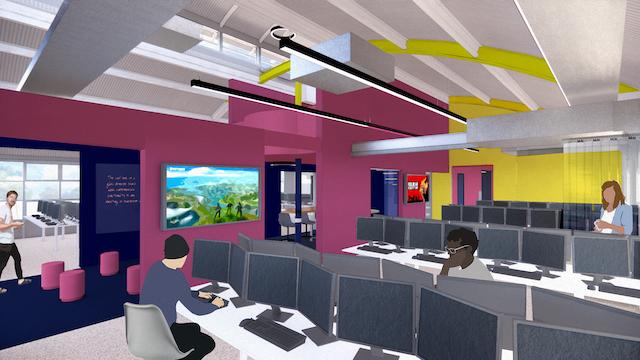 a vision of the new gaming facilities at HSDC Alton