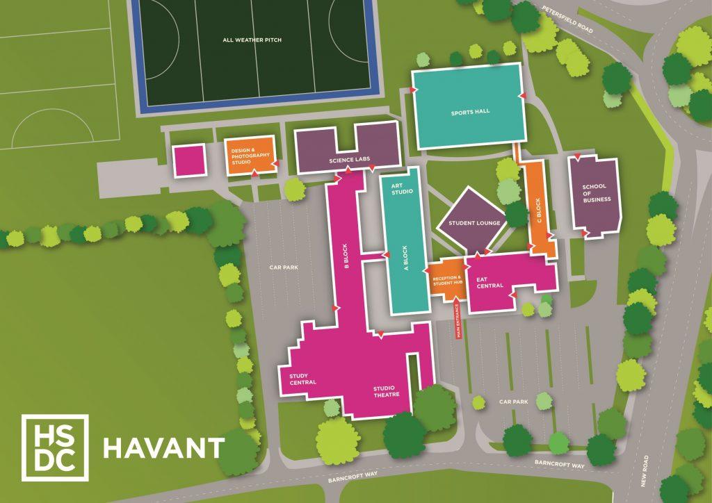 map of havant campus
